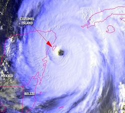 Satellitenbild Wilma