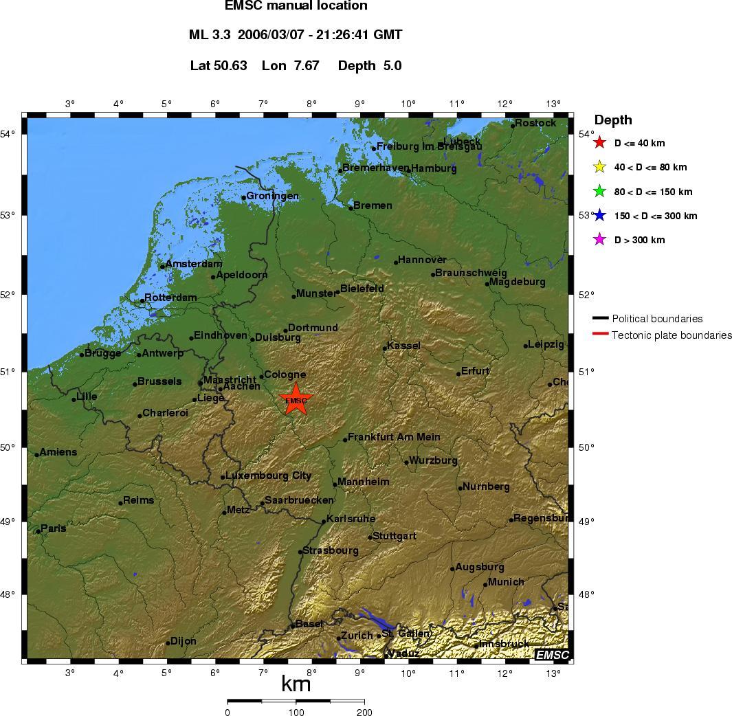 Koblenz Erdbeben