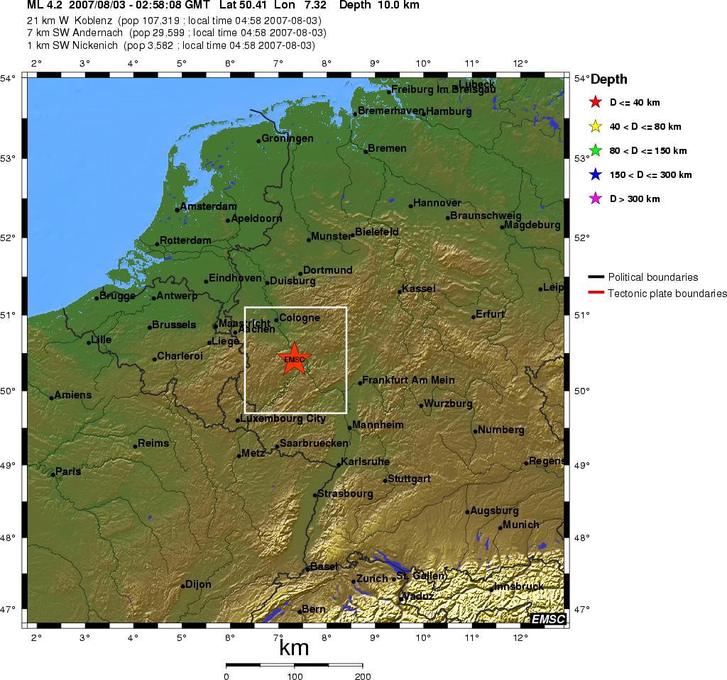 Erdbeben Rheinland