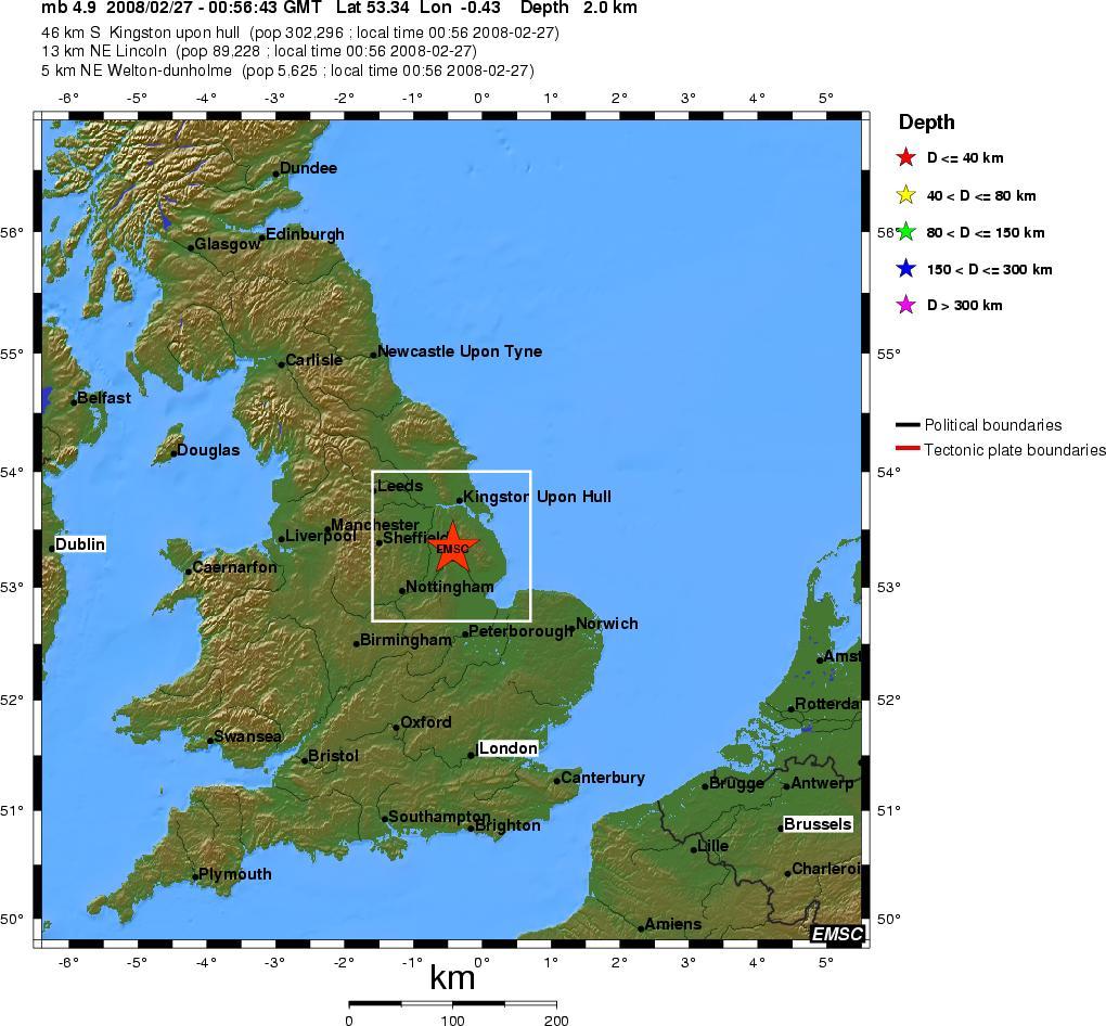 Erdbeben England