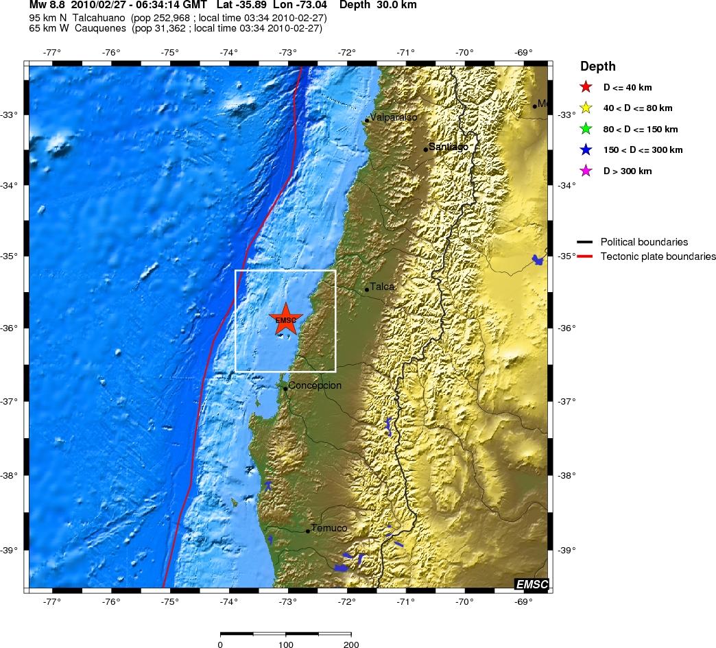 Schweres Erdbeben Vor Chile Am 27 02 2010 Thomas S 228 Vert