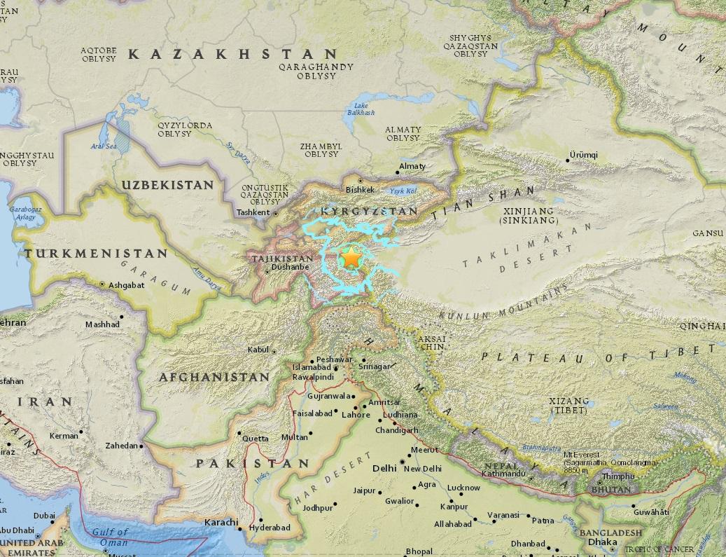 Erdbebenkarte