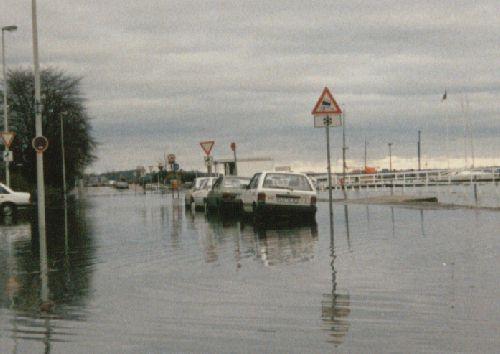 Hochwasser Kiel Herbst 1989